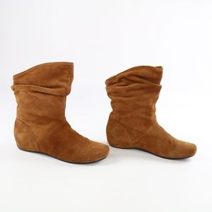 Steve Madden Kallee Leather Suede slouchy boot